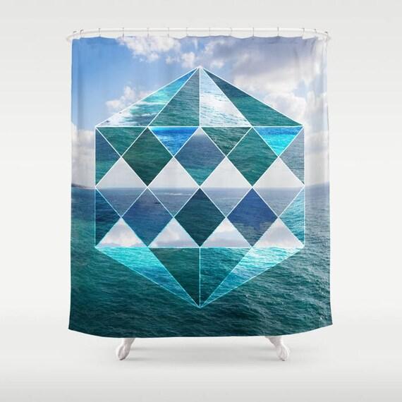 Sacred Geometry Shower Curtain Seaview Mason Illuminate Seascape Secret