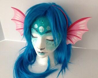 Mermaid Ear Fins Headband Pink / Mermaid, Faerie, Dragon Costume / Sea Creature / Fish / Cosplay