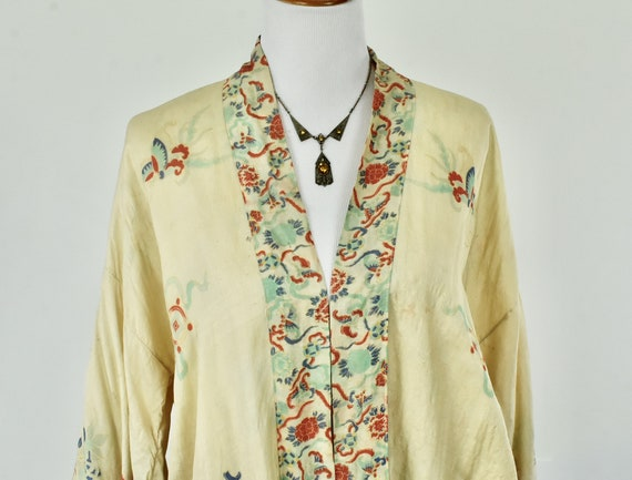 1920s Silk Pongee  Asian Kimono Robe .....VIBRANT… - image 2