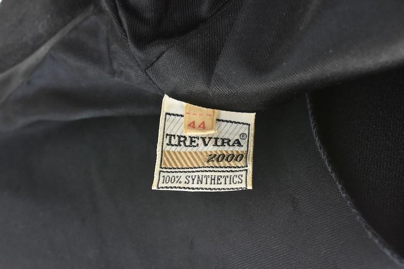 1970s TREVIRA 2000 Black Knit Long BOHEMIAN  Dress with Fuchsia /& Gold EMBROIDERY.....size Large