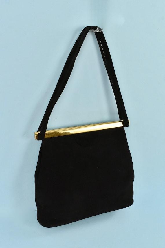 1950s  KORET Black Suede  Handbag........ - image 2