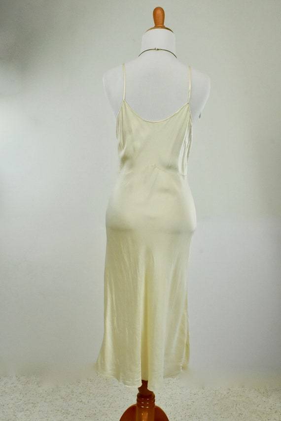 1930s Ivory Silk Charmeuse Slip / Nightgown with … - image 7