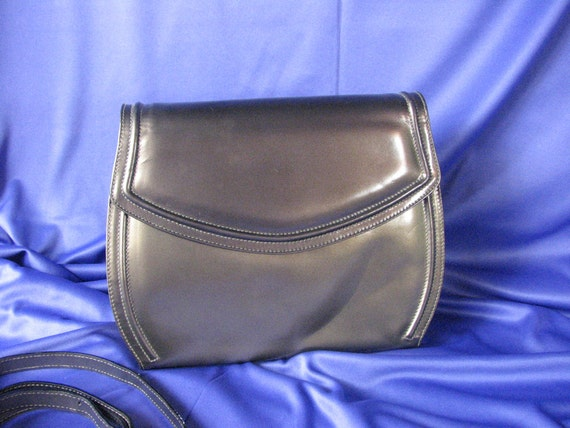 1990s Metallic Taupe Leather Handbag by Ferragamo