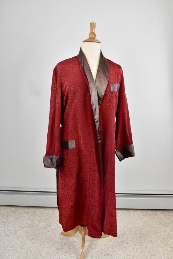 1940/50s Pilgrim Men's Rayon Dressing Gown / Robe.