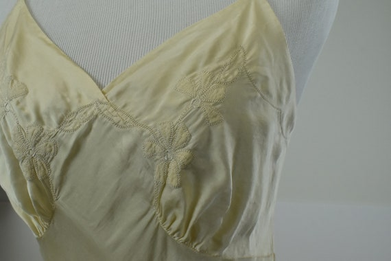 1930s Ivory Silk Charmeuse Slip / Nightgown with … - image 3