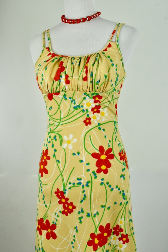 1970s JACK HARTLEY Polyester Maxi Dress.......size