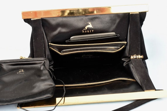 1950s  KORET Black Suede  Handbag........ - image 4