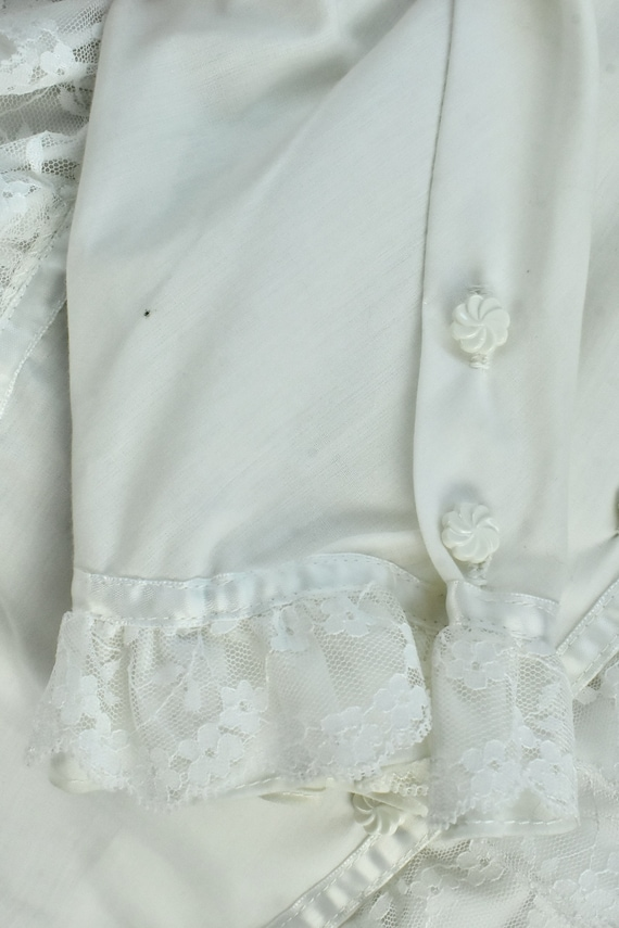1960/70s  White Ruffled GRANNY  Blouse by MISS FA… - image 7