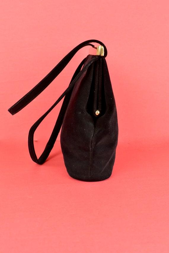 1950s  KORET Black Suede  Handbag........ - image 6