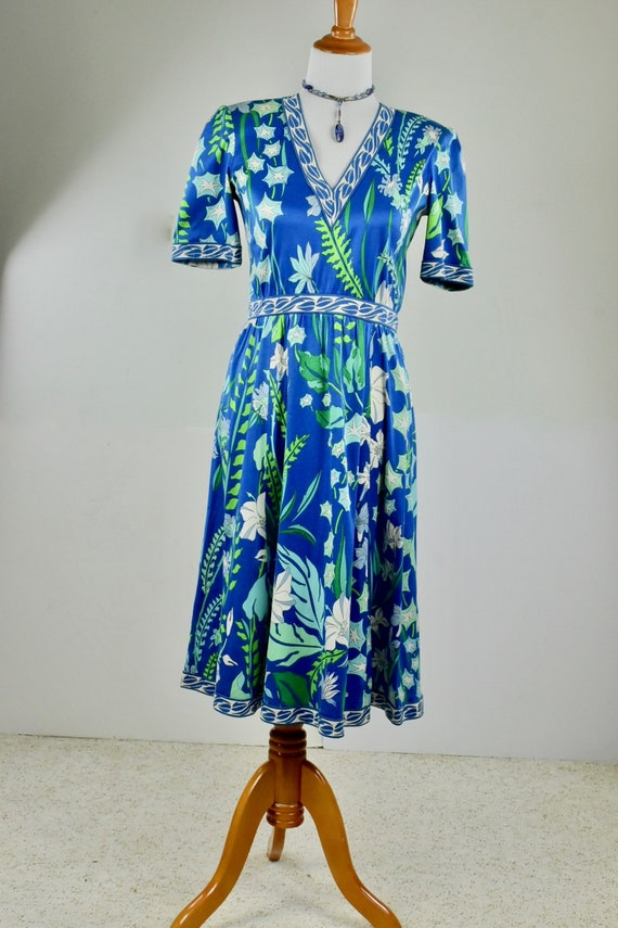 1970s Averardo Bessi Floral Cotton Knit Dress.....