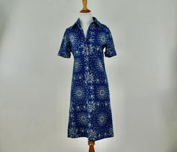 1960s GOLDWORM  Polyester BANDANA PRINT  Knit  Dre