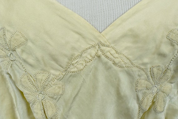 1930s Ivory Silk Charmeuse Slip / Nightgown with … - image 4