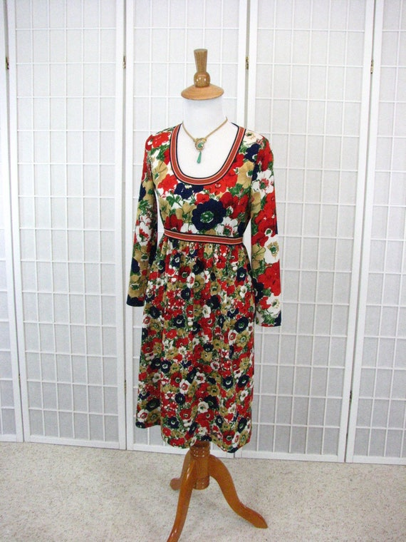 1960/70s GOLDWORM Polyester Knit  Dress ......  si