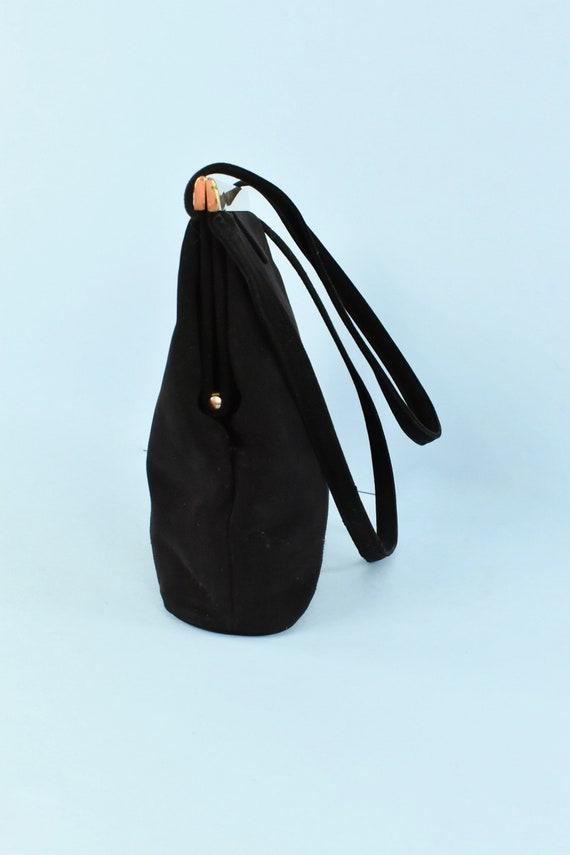 1950s  KORET Black Suede  Handbag........ - image 3