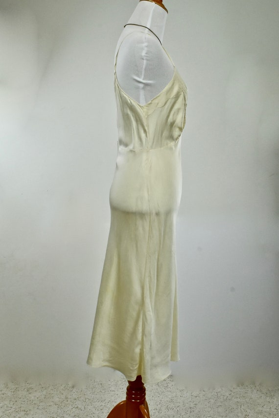 1930s Ivory Silk Charmeuse Slip / Nightgown with … - image 5