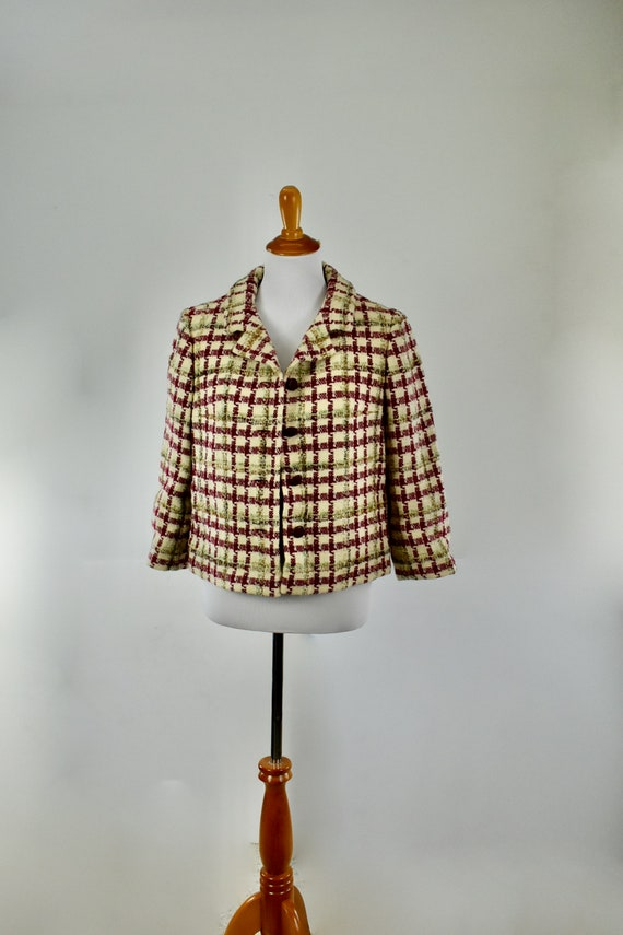 1950s BEN REIG SUMPTUOUS Homespun  Short Jacket ..