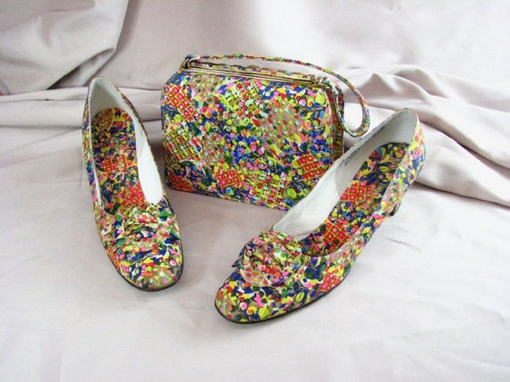 1960s Matching Psychedelic Shoes/John Jerro  &  Ha