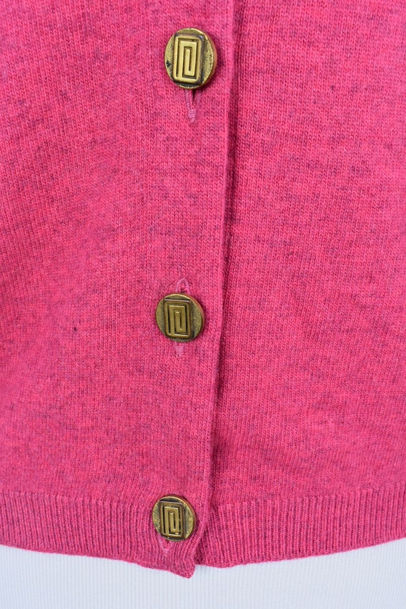 1950s Cashmere Raspberry Heather  Sweater... Ball… - image 5