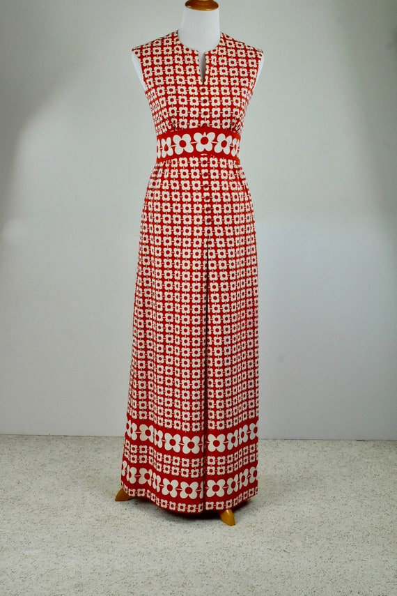 1960s Jay Anderson / POSH  Red & White MOD Long Dr