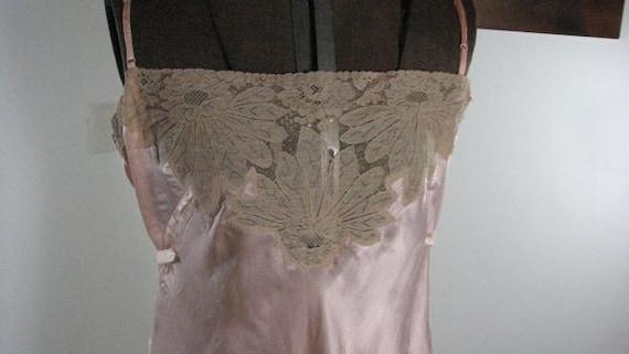 1930s Step In Peach Silk Lace Teddy........size La