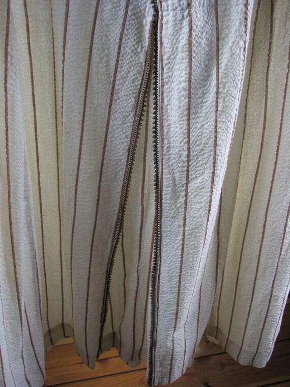 Edwardian Seersucker Day Dress/Robe   size Medium - image 4