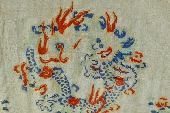 1920s Silk Pongee  Asian Kimono Robe .....VIBRANT… - image 9