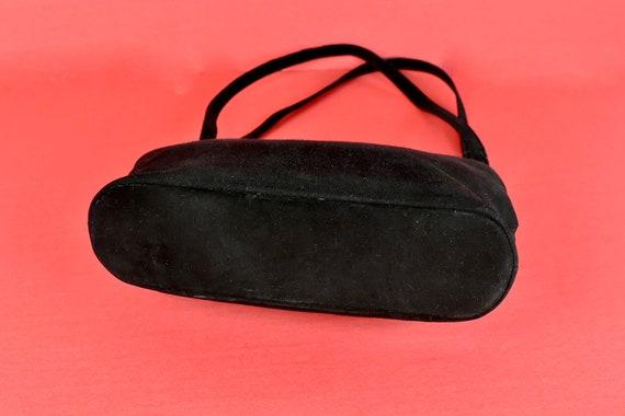 1950s  KORET Black Suede  Handbag........ - image 9