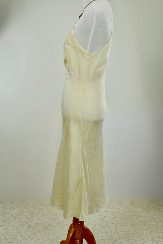 1930s Ivory Silk Charmeuse Slip / Nightgown with … - image 8