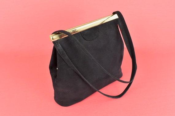 1950s  KORET Black Suede  Handbag........ - image 8