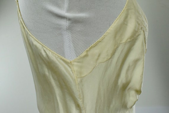 1930s Ivory Silk Charmeuse Slip / Nightgown with … - image 6