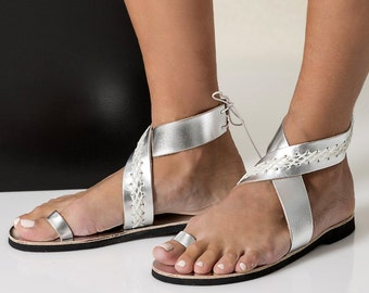 Ankle Wrap Sandals, in Six Colors. Thalia 03