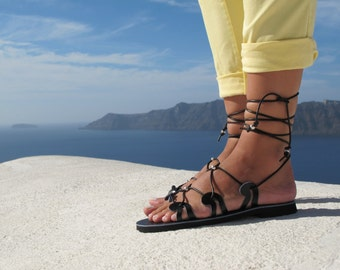 Gladiator sandals, handmade sandals, available in six colors, Unique design, DANAE