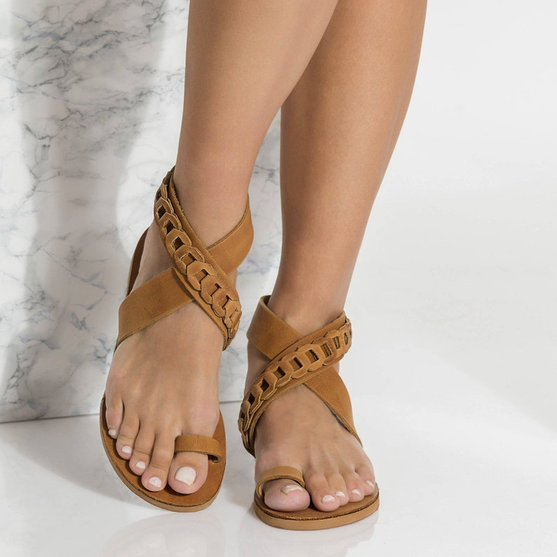 369d5e67dec1c Greek Sandals for Women, Handmade Ankle Strap Sandals, come in 5 colors  Phaedra Design