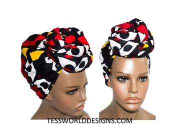 Hitarget, African head wrap , Regular size , African wrap scarf, African headwrap , Head wraps for women , African Head scarf , HT62