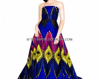 Ankara Print/ African fabric by the yard/ Java print/ African print/ Tissue Africain/ Fuchsia/Yellow Ankara Fabric/ Plume  WP864B