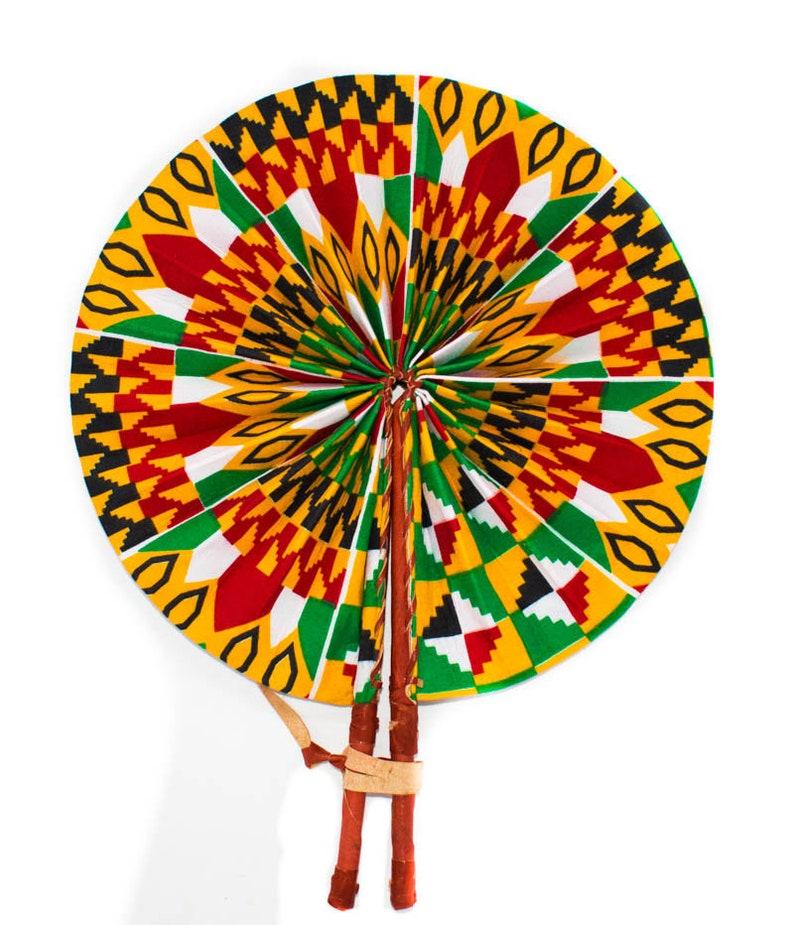 Fabric fan, African fabric fan/ AC126