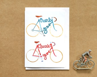 Bicycle Thank You Card  - A6 Greetings Card - Cycling Card