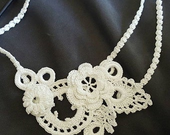 Irish crochet necklace
