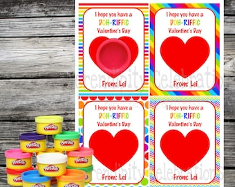 photo regarding Play Doh Valentine Printable called Prompt Obtain Printable Valentine Card Perform Doh Valentine
