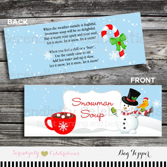 graphic about Snowman Soup Printable referred to as Snowman Soup Bag Topper, Printable Snowman Soup Bag Topper, Snowman soup, Xmas Bag Topper, Instantaneous Obtain, College or university Take care of, Clroom
