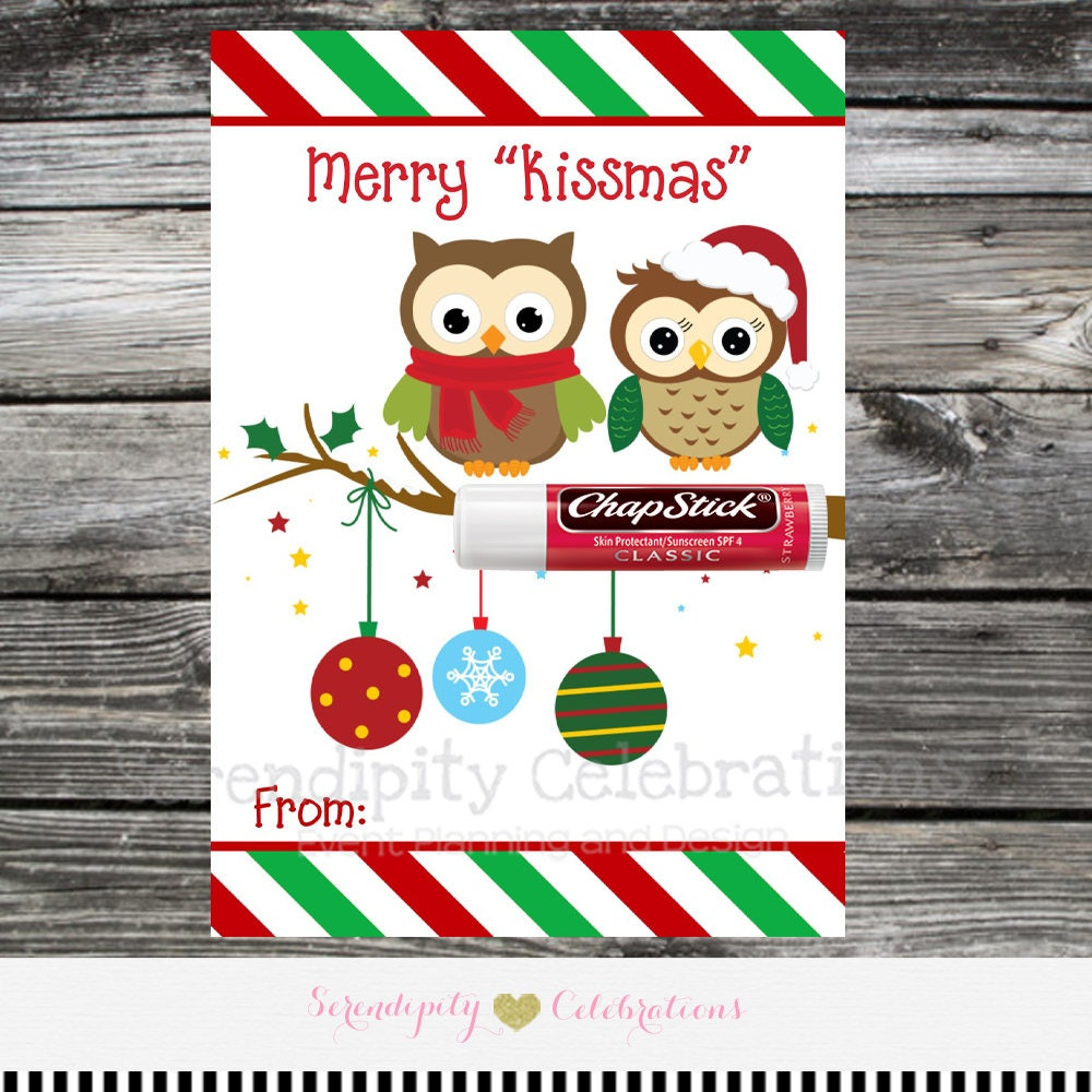 Instant Download Printable Chapstick Christmas Card