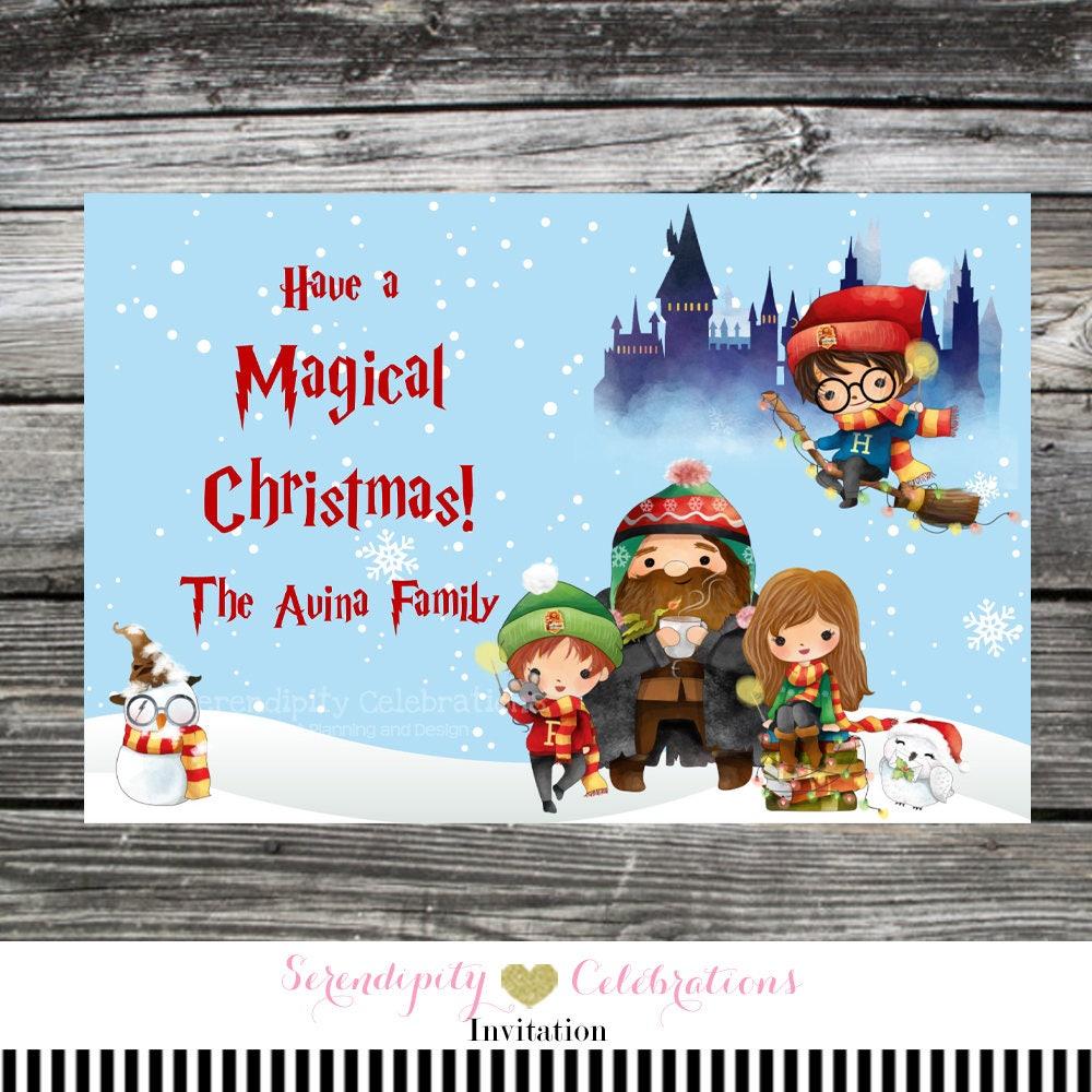 Digital Christmas Card Harry Potter Christmas Card Harry | Etsy