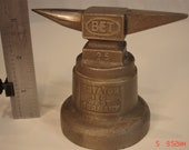 Vintage Miniature Anvil, Stand Mounted, Horn, Jewelry BET 25, West Germany