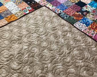 Queen Patchwork Quilt, Queensize Cotton Quilt, Patchwork Bedding, Scrappy Quilt, Country style Cotton Quilt