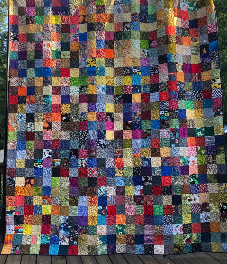 King Patchwork Quilt  Country Quilt King Size Quilted image 0