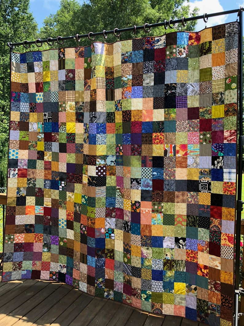 Patchwork Quilt  Country Quilts Queen Size Quilted Blanket image 0