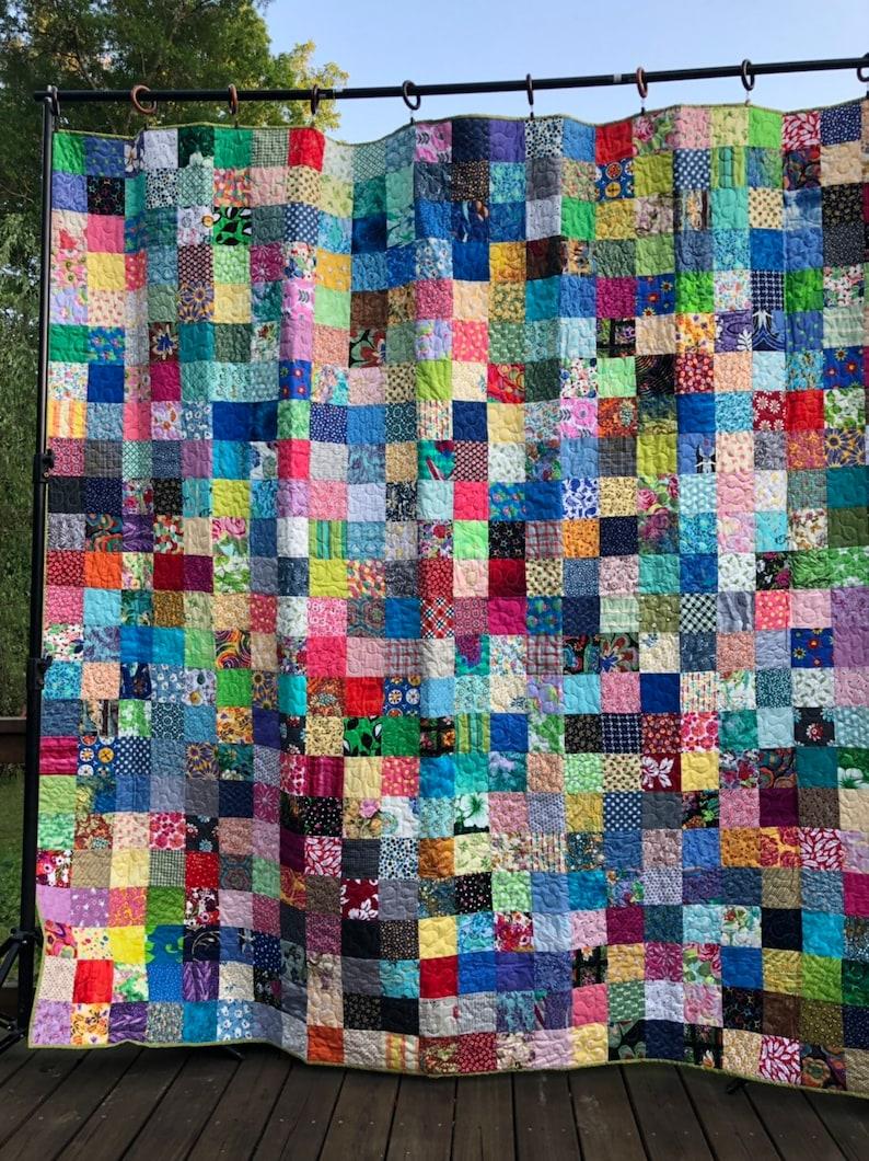 Queen Patchwork Quilt Queensize Cotton Quilt Patchwork image 0