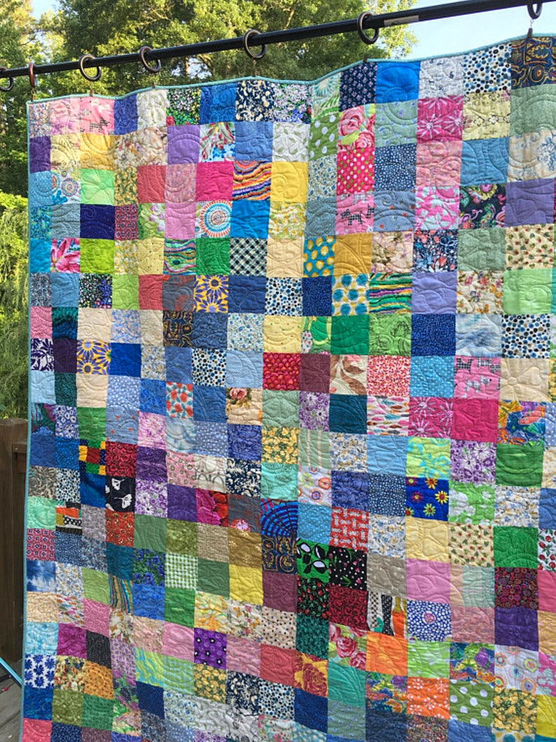 Twin Patchwork Quilts  Handmade Quilts  Twin Bedding  Quilt image 0
