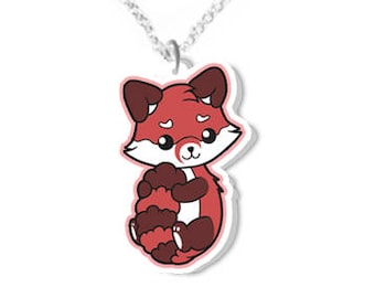 6665e2a095 Red panda necklace animal necklaces animals jewelry cute jewellery redpanda  products kawaii fox gifts christmas gift idea birthday present