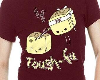 Funny Tofu Shirt cute tough-fu girlie girlies tshirt japanese food shirts ninja t-shirt kawaii apparel girlie gifts christmas gift idea